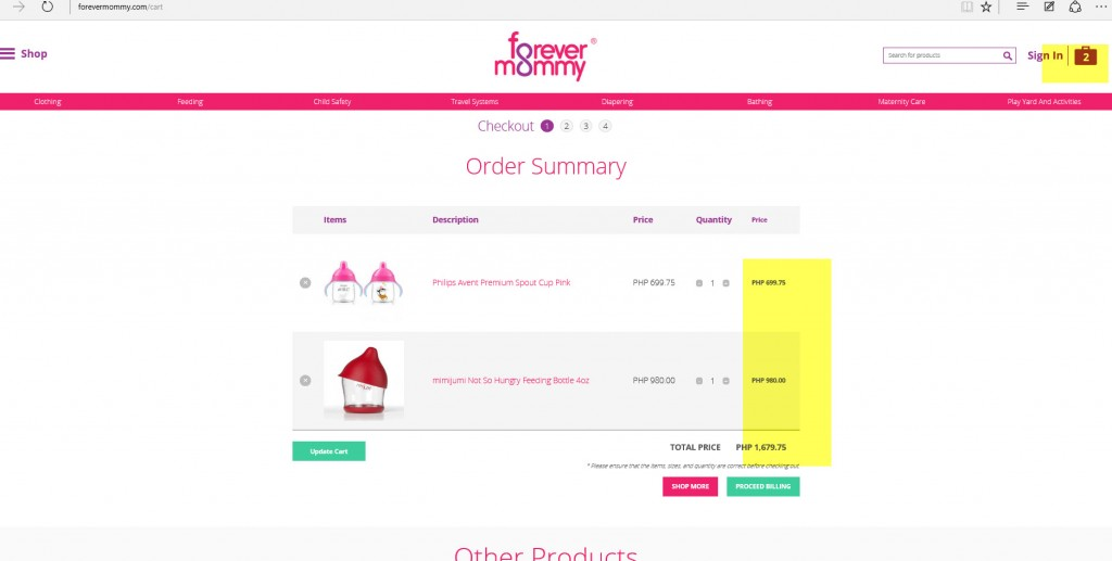Finalize your order and review