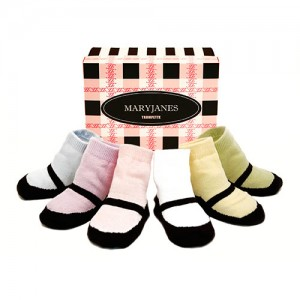 Trumpette MaryJane Pastel Assorted Socks 0-12 mos have six pairs of Trumpette's classic Maryjane baby socks in a pastel pallete packaged in a party perfec..
