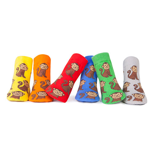 Trumpette Maxwell Monkey Assorted Socks 0-12 mos have soft little socks in a rainbow of hues are printed with friendly monkeys. They come packaged in a.....