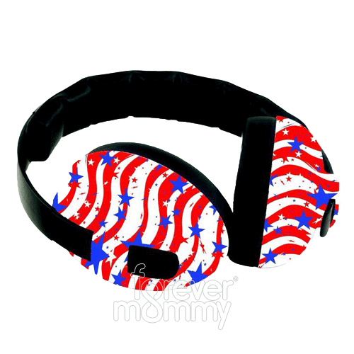 earBanz Hearing Protection 2-10 years Stars & Stripes is easy to wear, with a low profile and no protruding parts that can catch on things. The wide, foam..