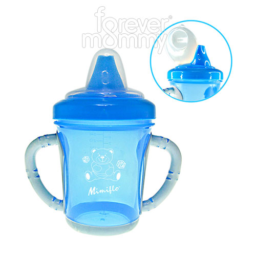 Non-spill Sipping Spout Training Cups hard Spout Blue